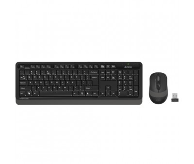 A4 Tech FG1010 Q Kablosuz MM Klavye Mouse Gri