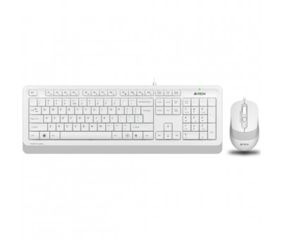 A4 Tech F1010 MM Klavye Mouse Set / Beyaz / USB