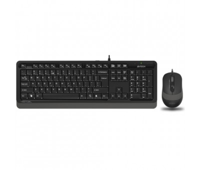 A4 Tech F1010 MM Klavye Mouse Set / Gri / USB