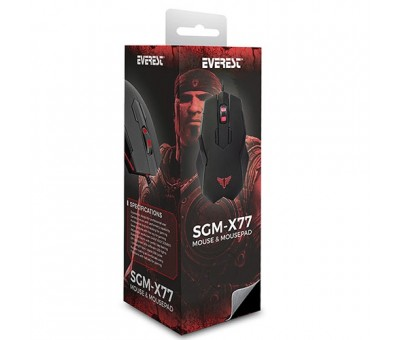 Everest SGM-X77 Gaming Mouse Pad ve Mouse Siyah