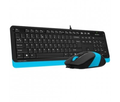 A4 Tech F1010 MM Klavye Mouse Set / Mavi / USB