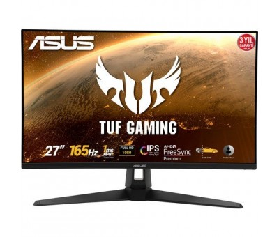"Asus TUF Gaming VG279Q1A 27"" 144Hz 1ms (HDMI+Display) FreeSync Full HD IPS Curved LED Monitör"