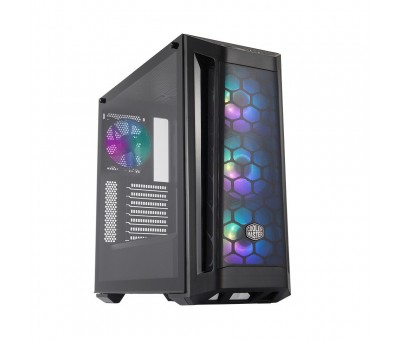 Cooler Master MasterBox MB511 ARGB Mid Tower Kasa  Tempered Glass, ARGB 4x120mm Fanlı, Mesh Ön Panel