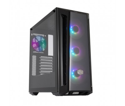 Cooler Master MasterBox MB520 ARGB Mid Tower Kasa  Tempered Glass, ARGB 4x120mm Fanlı, Mesh Ön Panel