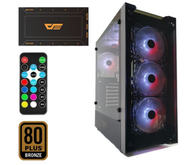 DarkFlash Skywalker 650W 80+Br RGB Mid Tower Kasa