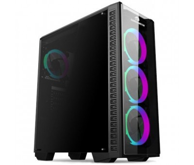 Gamebooster GB-G3060B USB 3.0 Atx Temp.glass Sıngle Rıng Rgb Fan Siyah Kasa (Psu Yok)
