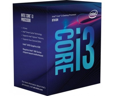 Intel i3-8100 3.60 GHz 6M 1151-V.2 Tray