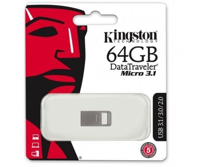 Kingston 64GB DTMICRO 3.1/3.0 Metal USB Bellek DTMC3/64GB