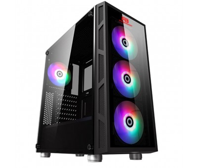 Power Boost VK-G2052S RGB  Tempered Glass USB 3.0 Mid Tower Kasa
