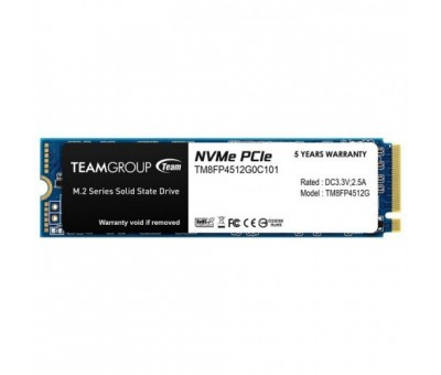 Team MP34 512GB 3000/1700MB/s NVMe PCIe M.2 SSD Disk TM8FP4512G0C101